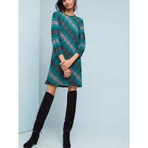 "Anthro ""Aldomartins"" Mixed Plaid Sweater Dress"